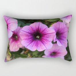 Purple and Pink Flowers Rectangular Pillow