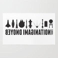 Beyond imagination: Space Shuttle postage stamp Rug