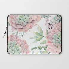 Pink Succulents by Nature Magick Laptop Sleeve