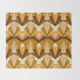 Art Deco meets the 70s Throw Blanket