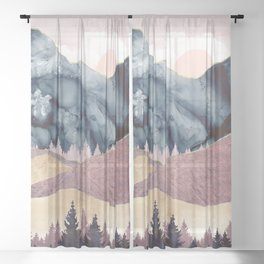 Mauve Vista Sheer Curtain