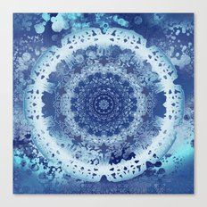 Chambray Anenome Mandala Canvas Print