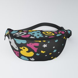 Toys falling like candies from starry night sky Fanny Pack