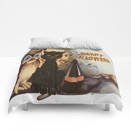 Owl and Cat Halloween Comforters