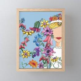 I Love the Flower Girl Framed Mini Art Print