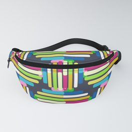Striped Circle Pattern Fanny Pack
