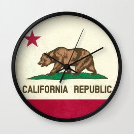 California Republic Flag Wall Clock