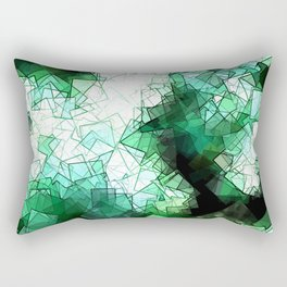 square fantasy snow in the treetops Rectangular Pillow