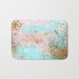 Pink and Gold Mermaid Sea Foam Glitter Bath Mat