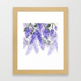 Purple Wisteria Flowers Framed Art Print