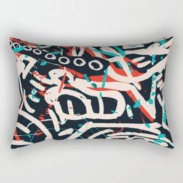Street Art Pattern Graffiti Post Rectangular Pillow