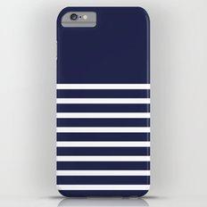 Navy Striped Pattern Design iPhone 6s Plus Slim Case