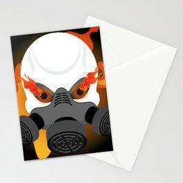 Gas Mask Skull Stationery Cards