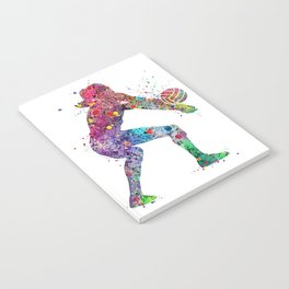 Volleyball Girl Watercolor Print Girls Room Decor Volleyball Poster Girl Volleyball Wall Art Notebook