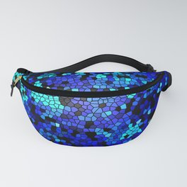 STAINED GLASS BLUES Fanny Pack