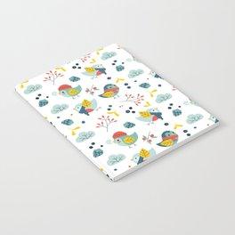 winter birds pattern Notebook