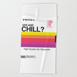 VHS and Chill Beach Towel