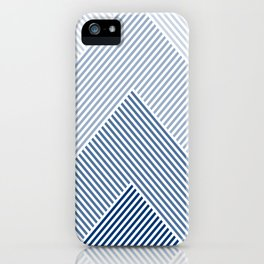 Shades of Blue Abstract geometric pattern iPhone Case