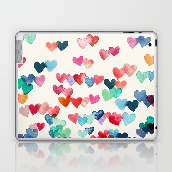 Heart Connections - watercolor painting Laptop & iPad Skin