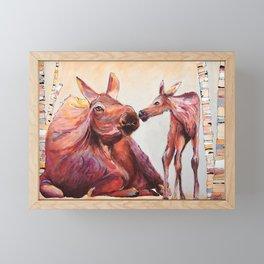 Eskimo Kiss Framed Mini Art Print