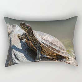 Red-Eared Slider Turtle Rectangular Pillow