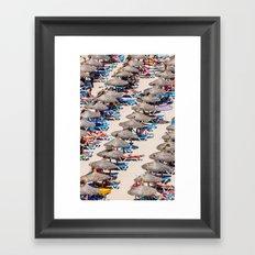 Summer day beach Framed Art Print