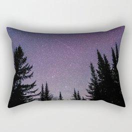 North Woods Starry Night Pines Rectangular Pillow
