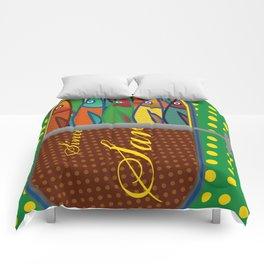 Pop art: Sardines Comforters