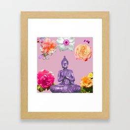 Lavender Buddha Framed Art Print