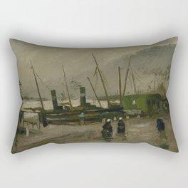 The De Ruijterkade in Amsterdam Rectangular Pillow