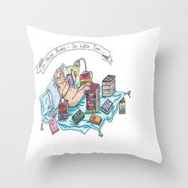 Reading Sloth Throw Pillow