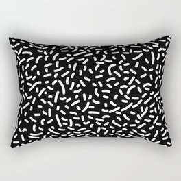 Memphis Candy W&B Rectangular Pillow