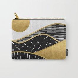 Gold Sun, digital surreal landscape Carry-All Pouch