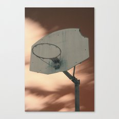 Shooting hoops on Mars Canvas Print