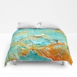 Onyx - blue and orange Comforters
