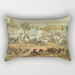 Civil War Battle of Gettysburg July 1-3 1863 by Paul Philippoteaux Rectangular Pillow