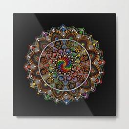 Kaleidoscope Microscope Metal Print