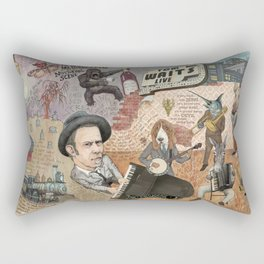 Tom Waits' Melodramatic Nocturnal Scene Rectangular Pillow