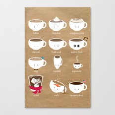 Know Your Coffees Canvas Print