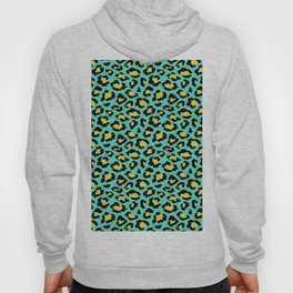 Leopard print neon green and yellow Hoody