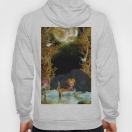 Cute fairy with wolf Hoody