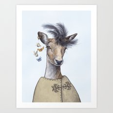 Fashion deer Art Print