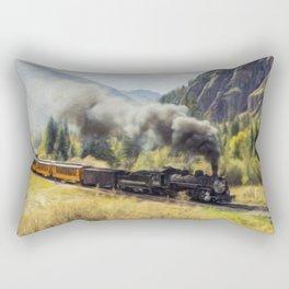 Steam Engine Locomotive Rectangular Pillow