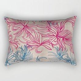 Pink and blue blades Rectangular Pillow