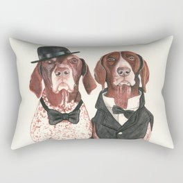 german short hair pointers - F.I.P. @ifitwags (The pointer brothers) Rectangular Pillow