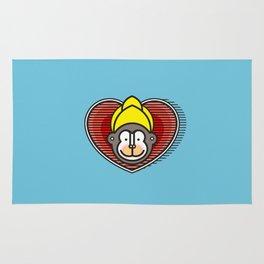 Indian Monkey God Icon Rug