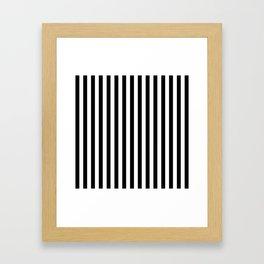 Stripe Black & White Vertical Framed Art Print