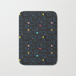 Pac-Man Retro Arcade Gaming Design Bath Mat