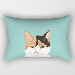 Calico Cat - Cute cat black, white, tan, orange tabby cat, cute kitten Rectangular Pillow