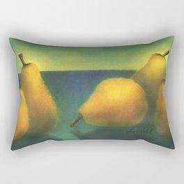 watercolor pears Rectangular Pillow